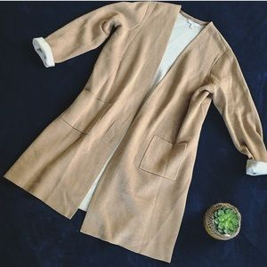Long tan cardigan sweater NWOT size XL